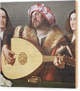 Cariani's A Concert Wood Print