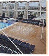 Caribbean Cruise - On Board Ship - 12129 Wood Print