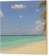 Caribbean Dream Beach Wood Print