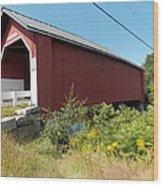 Carlton Covered Bridge Wood Print