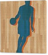 Carmelo Anthony New York Knicks Wood Print by Joe Hamilton