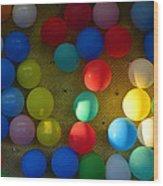 Carnival Balloons Wood Print