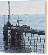 Carpinteria Pier Wood Print