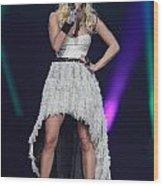 Singer Carrie Underwood Wood Print