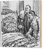 Cartoon: Big Three, 1945 Wood Print