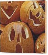 Carved Pumpkins Wood Print