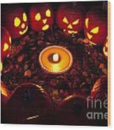 Pumpkin Seance With Pumpkin Pie Wood Print