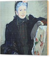 Cassatt's Portrait Of An Elderly Lady Wood Print
