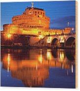 Castel Sant Angelo Wood Print by Brian Jannsen