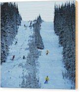 Cat Skiing At Fortress Mountain Wood Print