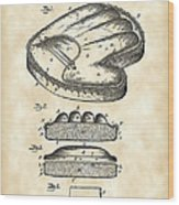 Catcher's Glove Patent 1891 - Vintage Wood Print
