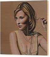 Cate Blanchett Painting  Wood Print