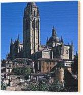 Cathedral In Salamanca Wood Print