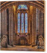 Cathedral Window Wood Print by Adrian Evans