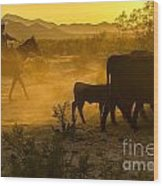 Cattle Drive 6 Wood Print