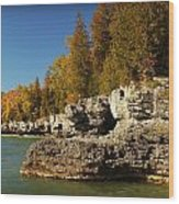 Cave Point County Park Door County Wisconsin Wood Print
