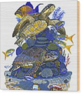 Cayman Turtles Wood Print