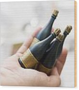 Celebration Champaign Bubbles Wood Print