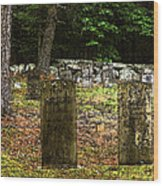 Cemetery Wood Print