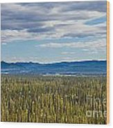 Central Yukon T Canada Taiga And Ogilvie Mountains Wood Print