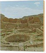 Chaco Canyon Ruins Wood Print