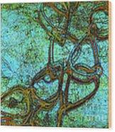 Chain Mail Wood Print