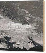 Chamonix From Above Wood Print
