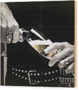 Champagne Toast Wood Print