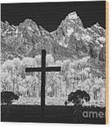Chapel View Wood Print