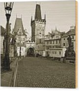 Charles Bridge In Prague Wood Print