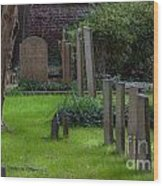 Charleston Graveyard Wood Print