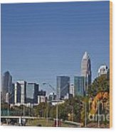 Charlotte Skyline Wood Print by Jill Lang