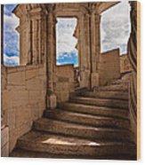 Chateau De Blois Staircase / Loire Valley Wood Print