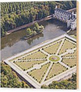 Chateau De Chenonceau And Its Gardens Wood Print