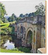 Chatsworth Bridge Wood Print