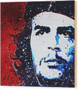 Che Wood Print by Chris Mackie