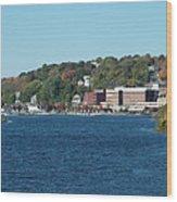 Chelsea Harbor In Fall Wood Print