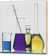Chemistry Wood Print by Bernard Jaubert