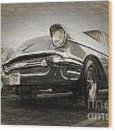 Chevrolet Belair 1957 Wood Print
