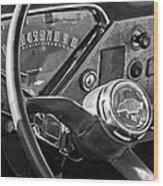 Chevrolet Steering Wheel Emblem Wood Print