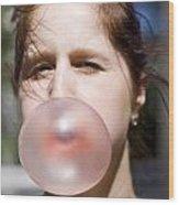 Chewing Gum Lady Wood Print