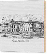 Chicago Art Institute - 1879 Wood Print