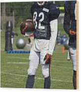 Chicago Bears Wr Chris Williams Training Camp 2014 01b Bw Wood Print