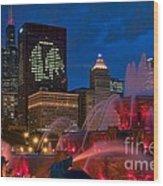 Chicago Blackhawks Skyline Wood Print
