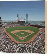 Chicago Cubs V San Francisco Giants Wood Print