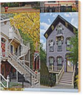 Chicago Historic Old Town Triangle Wood Print by Christine Till