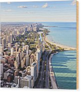 Chicago Lakefront Skyline Wood Print