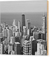 Chicago - That Famous Skyline Wood Print by Christine Till