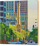 Chicago Water Tower Beacon Wood Print
