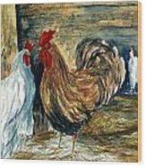 Chicken Coop Wood Print